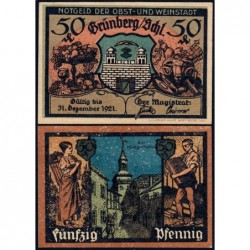 Pologne - Notgeld - Grünberg in Schlesien (Zielona Gora) - 50 pfennig - 1921 - Etat : SPL
