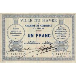 Le Havre - Pirot 68-04 variété - 1 franc - Etat : SUP
