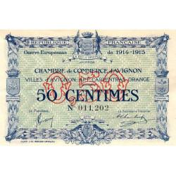 Avignon - Pirot 18-1 - 50 centimes - 11/08/1915 - Etat : SUP