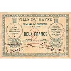 Le Havre - Pirot 68-07 - 2 francs - Sans date - Etat : TB+