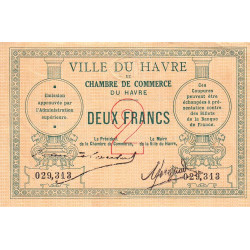 Le Havre - Pirot 68-07 - 2 francs - Sans date - Etat : TTB+