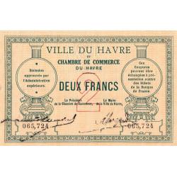 Le Havre - Pirot 68-07 - 2 francs - Sans date - Etat : SUP