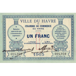 Le Havre - Pirot 68-10 - 1 franc - Etat : SUP