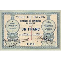 Le Havre - Pirot 68-10 - 1 franc - 1915 - Etat : TTB