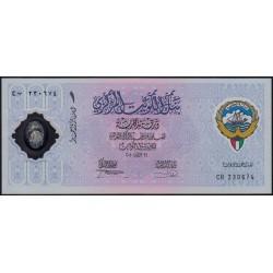 Koweit - Pick CS2 - 1 dinar - Série CB - 26/02/2001 - Polymère commémoratif - Etat : NEUF
