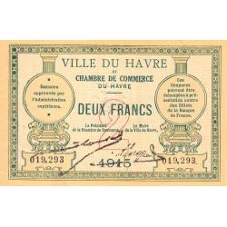 Le Havre - Pirot 68-12 - 2 francs - 1915 - Etat : SUP+