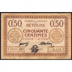 Béthune - Pirot 26-1 - 50 centimes - Série 227 - 04/10/1915 - Etat : TB