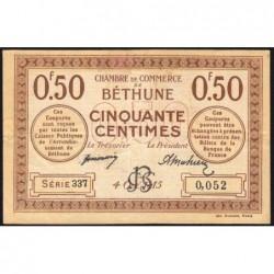 Béthune - Pirot 26-1 - 50 centimes - Série 337 - 04/10/1915 - Etat : TTB