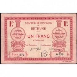 Béthune - Pirot 26-6 - 1 franc - Série 072 - 04/10/1915 - Etat : TB+