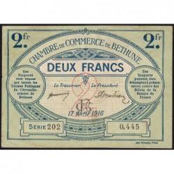 Béthune - Pirot 26-19 - 2 francs - Série 291 - 17/04/1916 - Etat : TB+