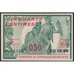 Béziers - Pirot 27-20 - 50 centimes - Série EU 12.66 - 04/12/1916 - Etat : SPL+