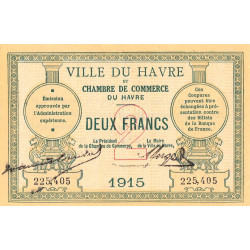 Le Havre - Pirot 68-12 - 2 francs - 1915 - Etat : SUP