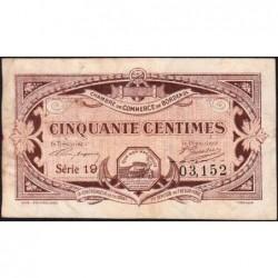 Bordeaux - Pirot 30-20 - 50 centimes - Série 19 - 1917 - Etat : TB