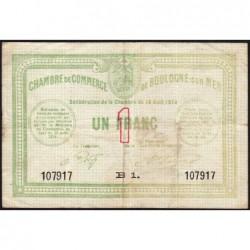 Boulogne-sur-Mer - Pirot 31-12 - Série B1 - 1 franc - 14/08/1914 - Etat : TB