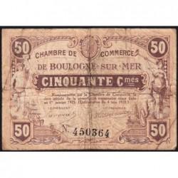 Boulogne-sur-Mer - Pirot 31-29 - 50 centimes - 04/06/1920 - Etat : B