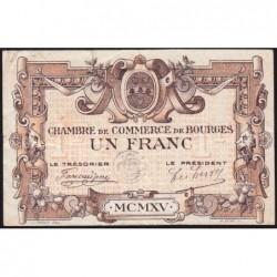 Bourges - Pirot 32-6 - Série C - 1 franc - 1915 - Etat : TTB-