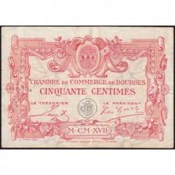 Bourges - Pirot 32-10 - Série A - 50 centimes - 1917 - Etat : TTB