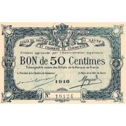 Le Havre - Pirot 68-14a - 50 centimes - 1916 - Etat : SUP+
