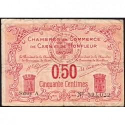 Caen / Honfleur - Pirot 34-12 - 50 centimes - Série A - 1915 - Etat : TB