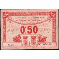 Caen / Honfleur - Pirot 34-16 - 50 centimes - Série C - 1920 - Etat : TB+