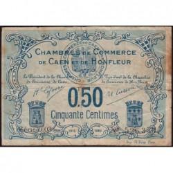 Caen / Honfleur - Pirot 34-4 - 50 centimes - Série 003 - 1915 - Etat : B+