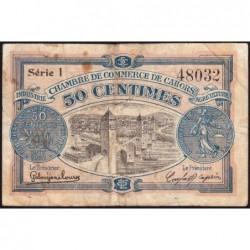 Cahors (Lot) - Pirot 35-17 - 50 centimes - Série I - 21/04/1917 - Etat : TB-