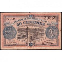 Cahors (Lot) - Pirot 35-25 - 50 centimes - Série M - 29/11/1920 - Etat : TB-