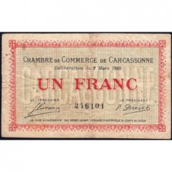 Carcassonne - Pirot 38-17 - 1 franc - 1920 - Etat : TB