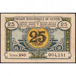 Région économique du Centre - Pirot 40-1 - 25 centimes - 240 - Sans date - Etat : TTB