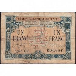 Région économique du Centre - Pirot 40-7 - 1 franc - Série 132 - Sans date - Etat : B+