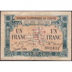 Région économique du Centre - Pirot 40-7 - 1 franc - Série 144 - Sans date - Etat : TB