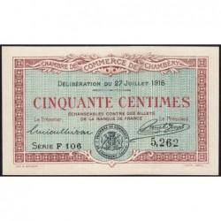 Chambéry - Pirot 44-7 - 50 centimes - Série F 106 - 27/07/1916 - Etat : SPL