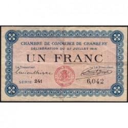 Chambéry - Pirot 44-9 - 1 franc - Série 241 - 27/07/1916 - Etat : TB+