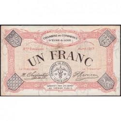Chartres (Eure-et-Loir) - Pirot 45-7 - 1 franc - 04/1917 - Etat : TB+