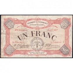 Chartres (Eure-et-Loir) - Pirot 45-7 - 1 franc - 04/1917 - Etat : TB