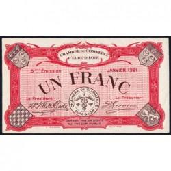 Chartres (Eure-et-Loir) - Pirot 45-13 - 1 franc - 01/1921 - Etat : SUP+