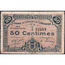 Chateauroux - Pirot 46-20 - 50 centimes - 26/12/1919 - Etat : B+