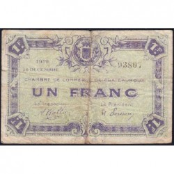 Chateauroux - Pirot 46-21 - 1 franc - 26/12/1919 - Etat : B+