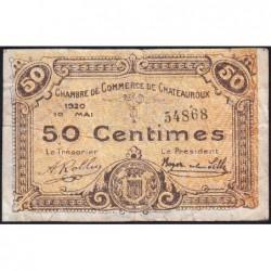Chateauroux - Pirot 46-22 - 50 centimes - 10/05/1920 - Etat : TB-