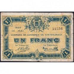 Chateauroux - Pirot 46-23 - 1 franc - 10/05/1920 - Etat : TB-
