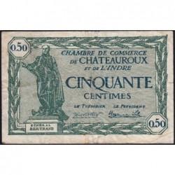 Chateauroux (Indre) - Pirot 46-28 - 50 centimes - Série A - 03/02/1922 - Etat : TB