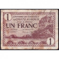 Chateauroux (Indre) - Pirot 46-30 - 1 franc - Série A - 03/02/1922 - Etat : TB-