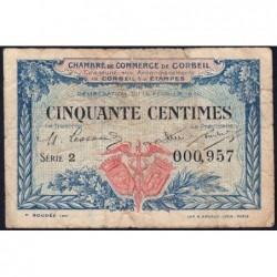 Corbeil - Pirot 50-1 - 50 centimes - Série 2 - 16/02/1920 - Etat : B+