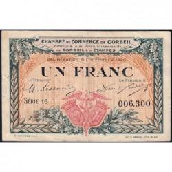 Corbeil - Pirot 50-3 - 1 franc - Série 16 - 16/02/1920 - Etat : TTB