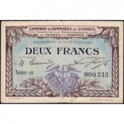 Corbeil - Pirot 50-5 - 2 francs - Série 15 - 16/02/1920 - Etat : TTB-
