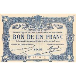 Le Havre - Pirot 68-15 - 1 franc - 1916 - Etat : SUP
