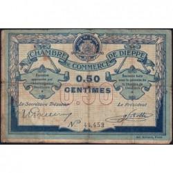 Dieppe - Pirot 52-1b - 50 centimes - Sans date (1915) - Etat : B