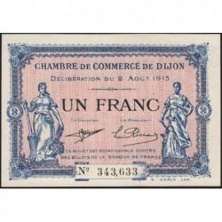 Dijon - Pirot 53-4 - 1 franc - 02/08/1915 - Etat : NEUF