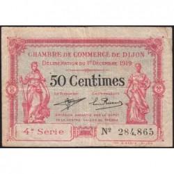 Dijon - Pirot 53-17 - 50 centimes - 01/12/1919 - Etat : TB