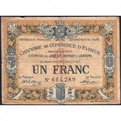 Evreux (Eure) - Pirot 57-11 - 1 franc - 11/01/1917 - Etat : B
